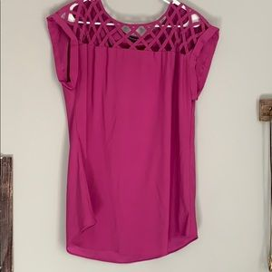 Express Tunic with Lattice neckline